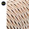 Cable textil trenzado 2x0.75mm 25mts c-15 beige seda  euro/mts