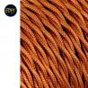 Cable textil trenzado 2x0,75mm 25mts c-12 oro seda  euro/mts