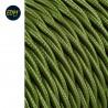 Cable textil trenzado 2x0,75mm 25mts c-18 verde seda  euro/mts