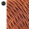 Cable textil trenzado 2x0,75mm 25mts c-20 marron seda  euro/mts